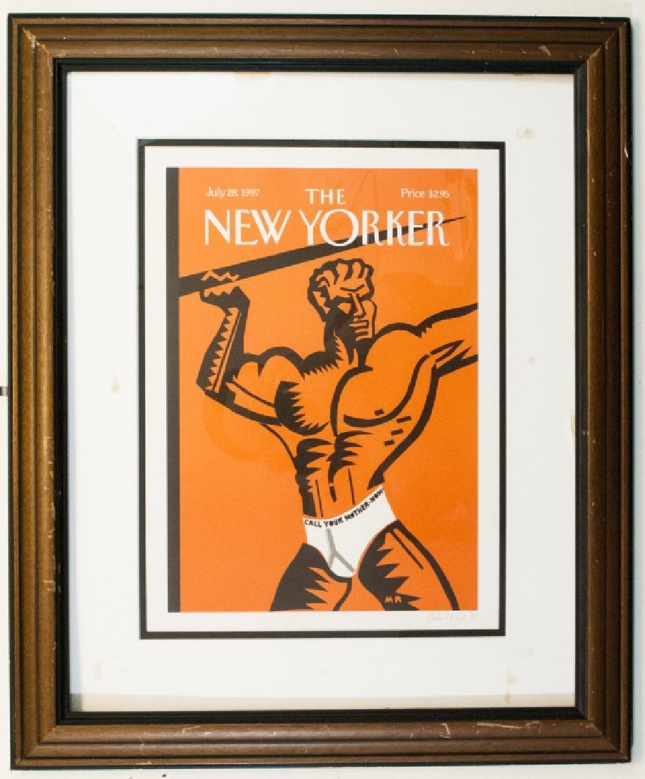 Framed 1997 New Yorker Magazine Cover Print