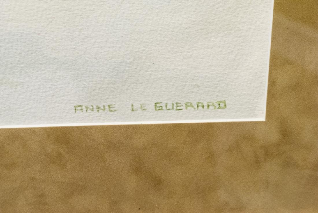 Anne Le Guerard Signed Watercolor in Frame - 3