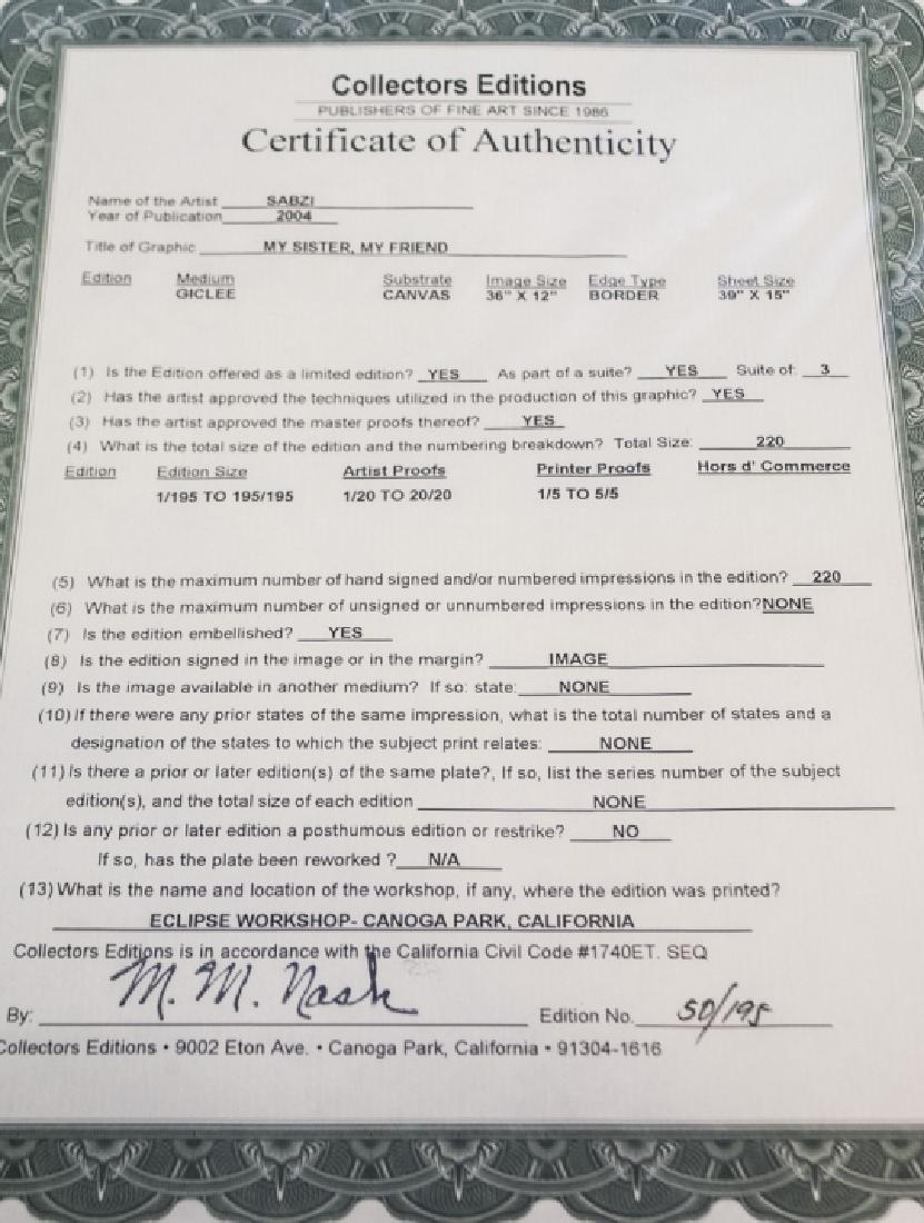 Sabzi Signed & Numbered Giclee with COA - 7