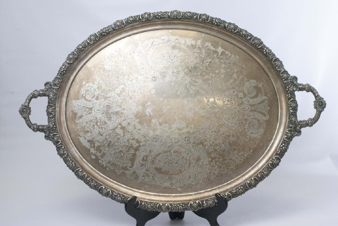 Walker & Hall Sheffield Handled Footed S/P Platter