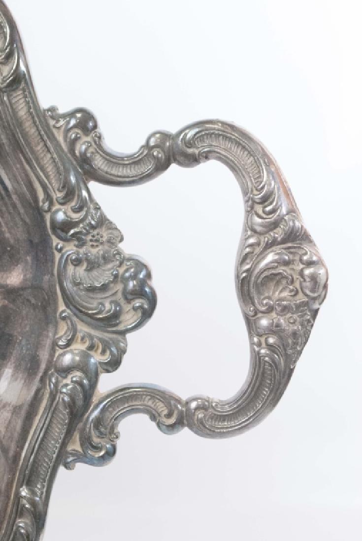 Large Gorham Silver Plate Handled & Footed Platter - 3