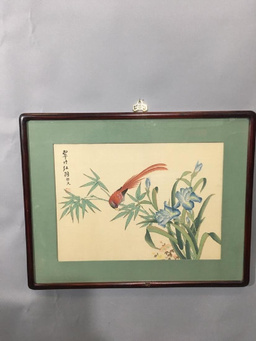 Three Framed Chinese Peasant Paintings - 4