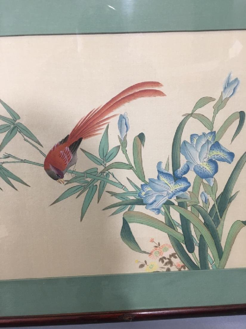 Three Framed Chinese Peasant Paintings - 6