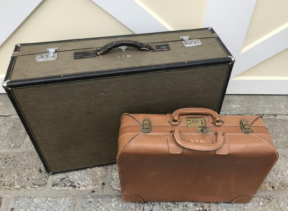 Two Suitcases Vintage / Mid Century Luggage Pieces