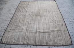 Elizabeth Eakins Wool Twill Bark Brown Rug New