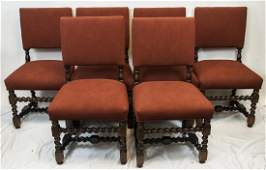 English Tudor Style Carved  Upholstered Chairs