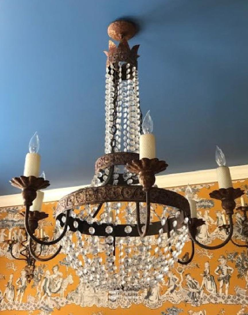 French Neo Classical Style Crystal Chandelier