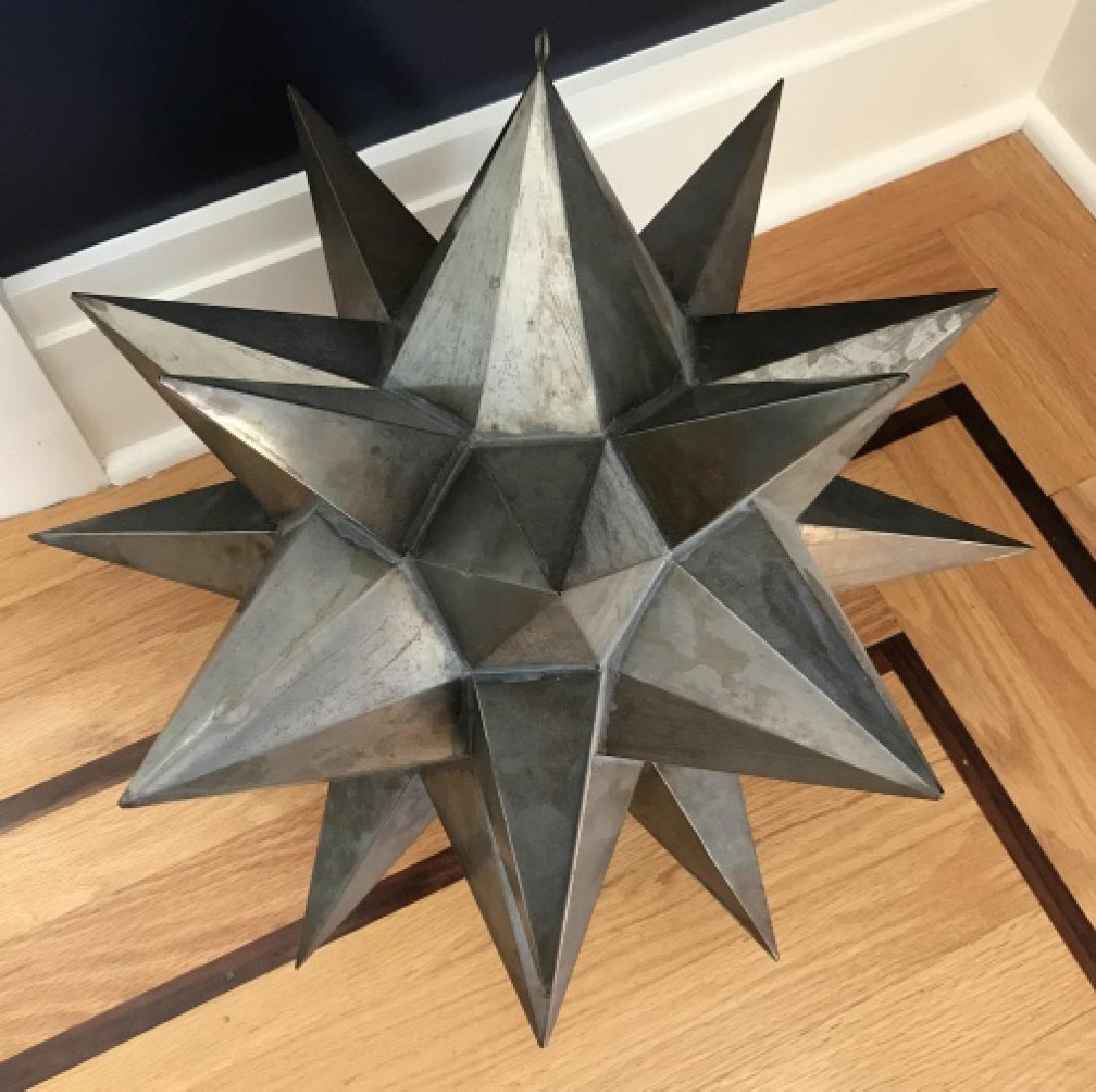 Contemporary Decorator Tole Metal Starburst Statue