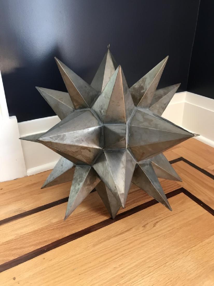 Contemporary Decorator Tole Metal Starburst Statue - 2