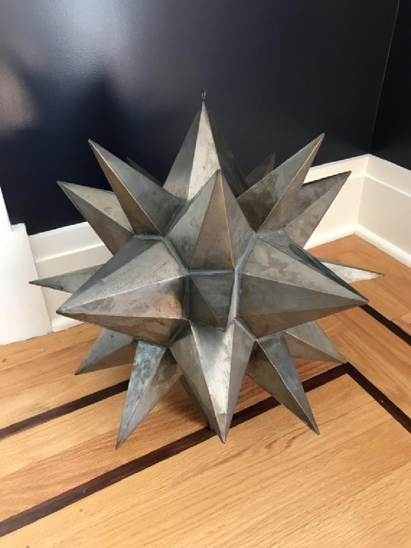Contemporary Decorator Tole Metal Starburst Statue - 3