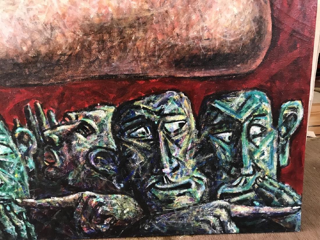 Contemporary 20th C Abstract Impasto Painting - 3