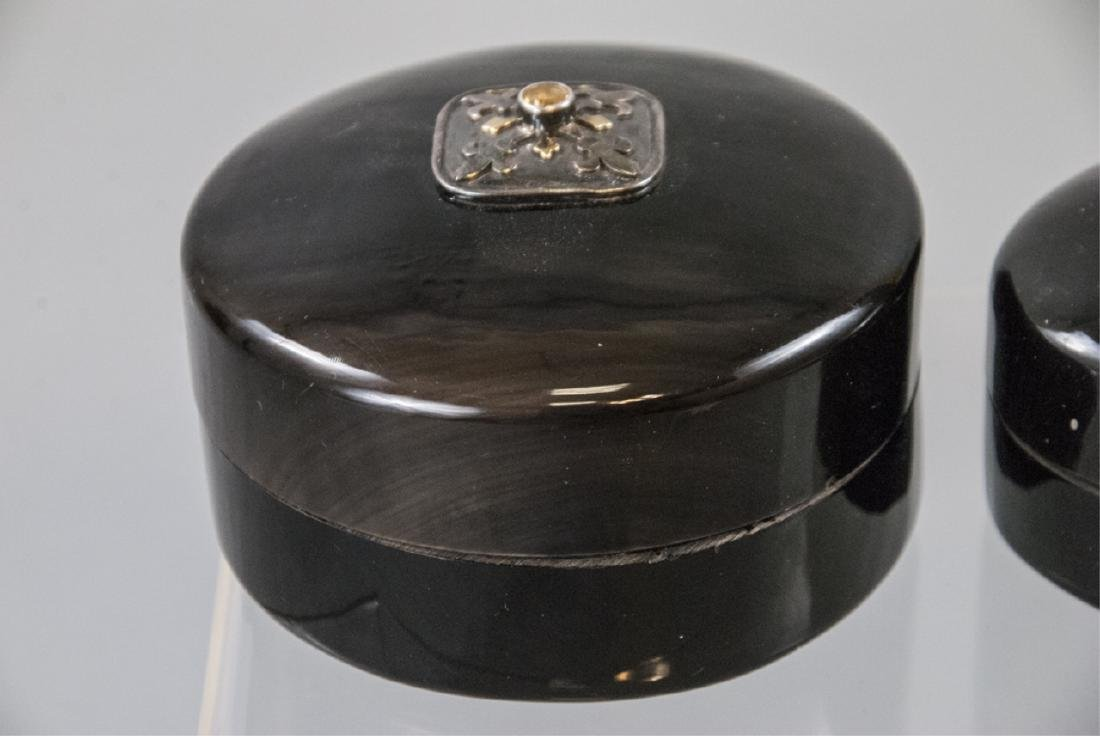 Pair Faux Tortoise Jewelry /Decorative Table Boxes - 2