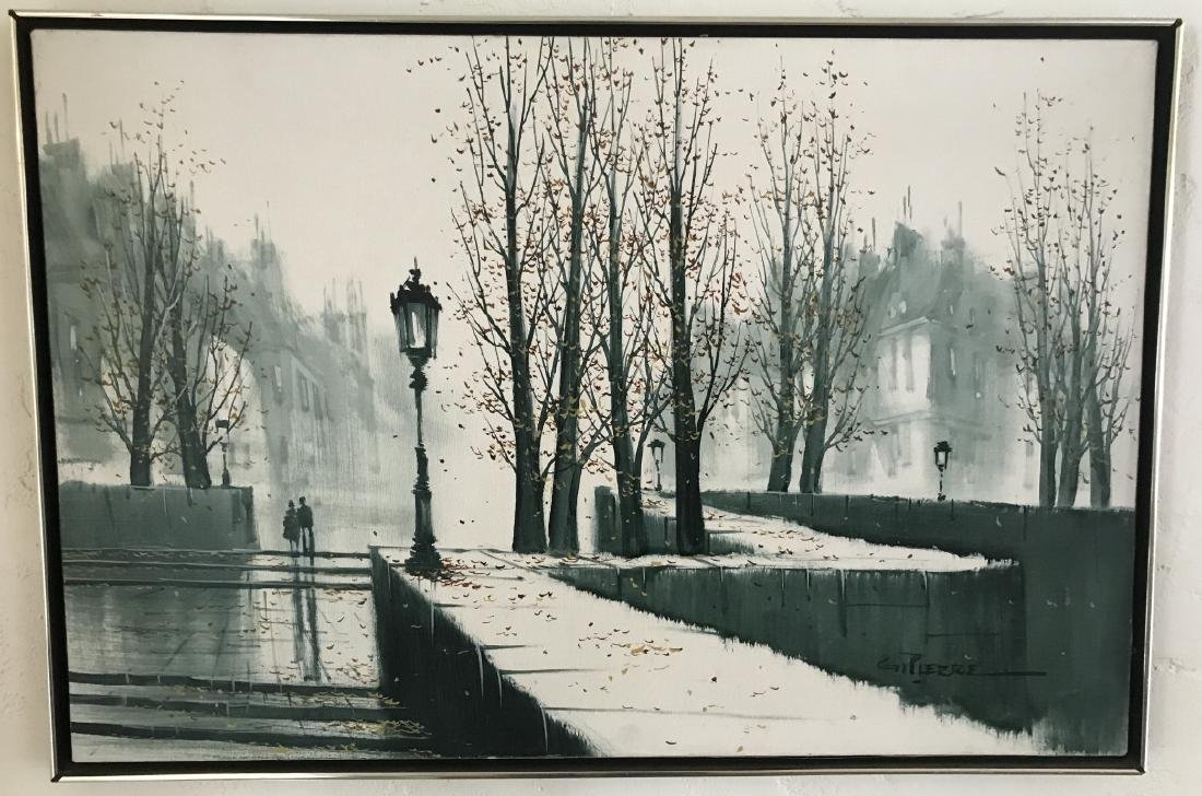 G Pierre Modernist French City Scape Painting