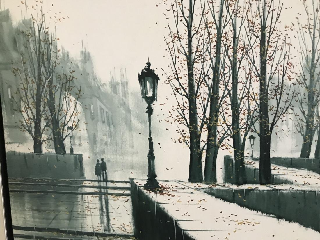 G Pierre Modernist French City Scape Painting - 2
