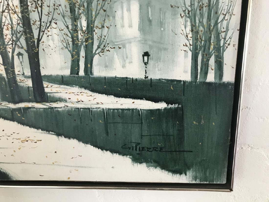 G Pierre Modernist French City Scape Painting - 3