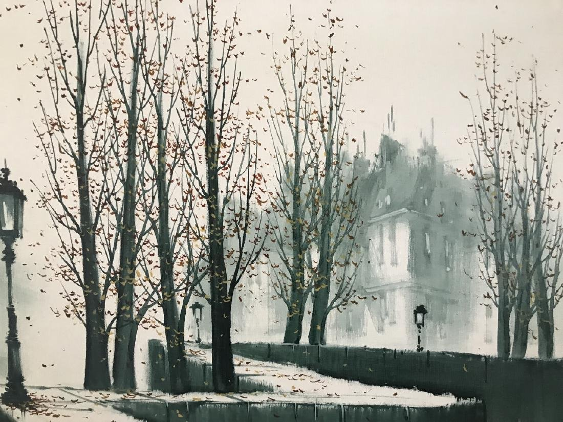 G Pierre Modernist French City Scape Painting - 4