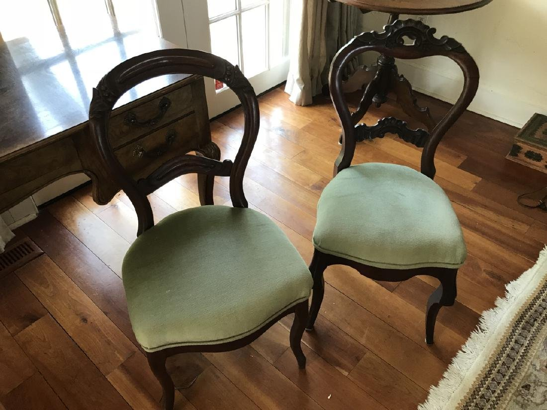 Two 19th C American Victorian Balloon Back Chairs - 2