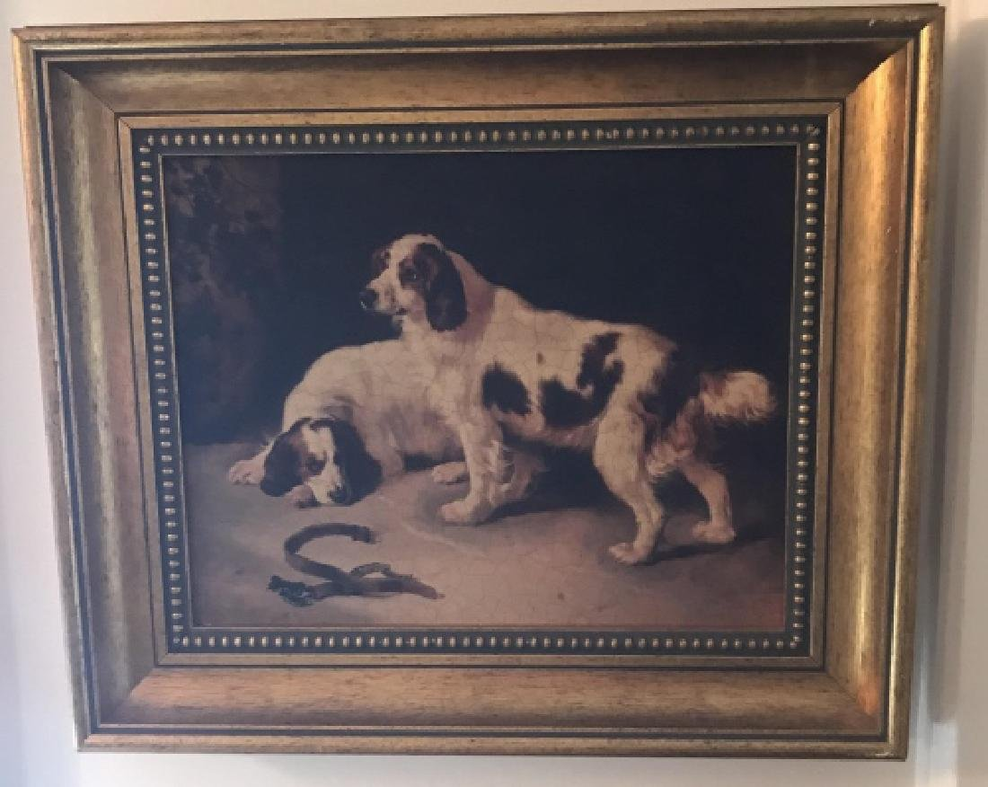 Framed Print of English Springer Spaniel Dogs