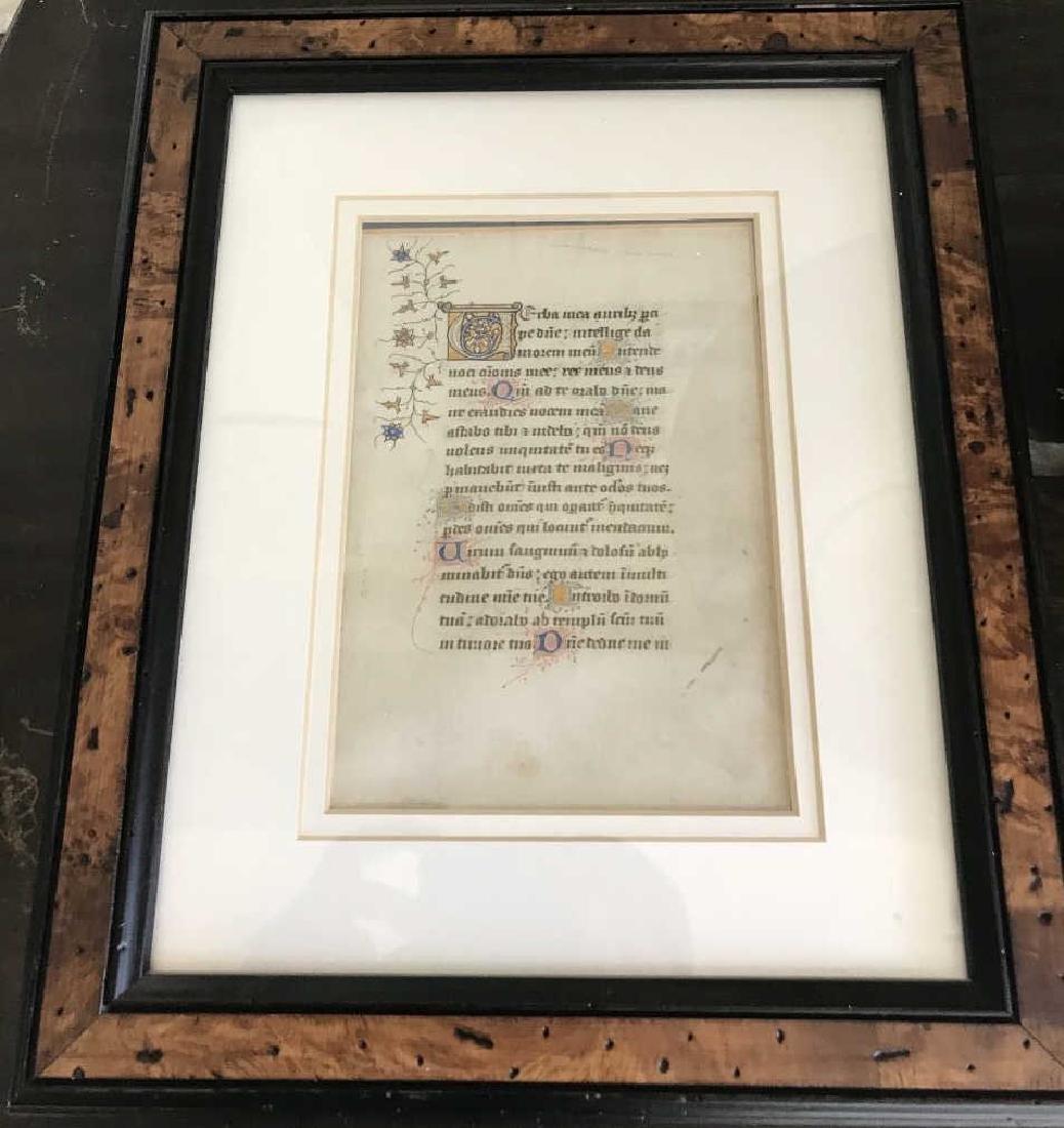Antique Custom Framed Hymnal Page