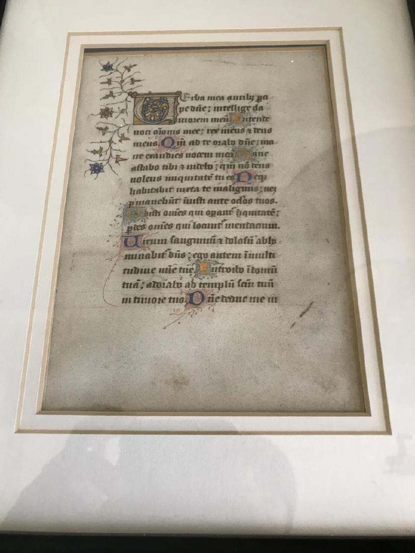 Antique Custom Framed Hymnal Page - 2