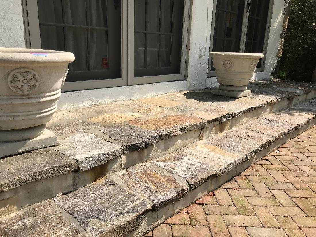 Pair of Large Cast Stone Garden Planters / Pots - 2