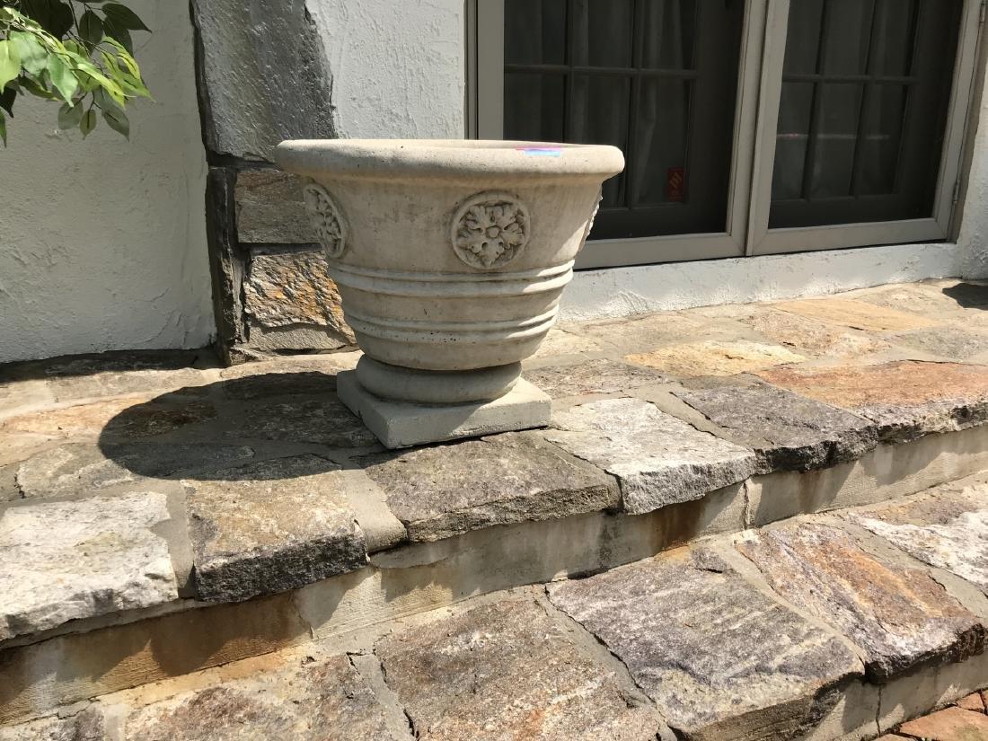 Pair of Large Cast Stone Garden Planters / Pots - 3