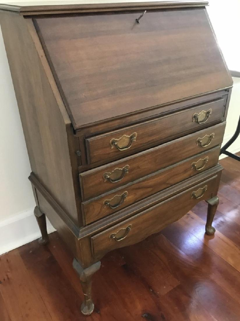 English Queen Anne Style Secretary Desk