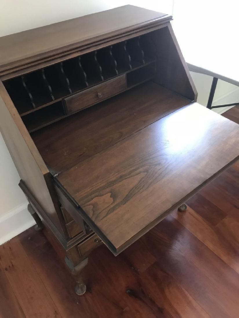 English Queen Anne Style Secretary Desk - 2