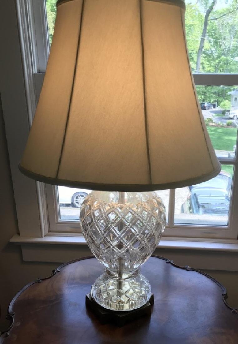 Waterford Style Cut Crystal Mount Table Lamp