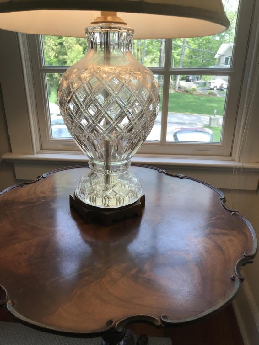 Waterford Style Cut Crystal Mount Table Lamp - 2