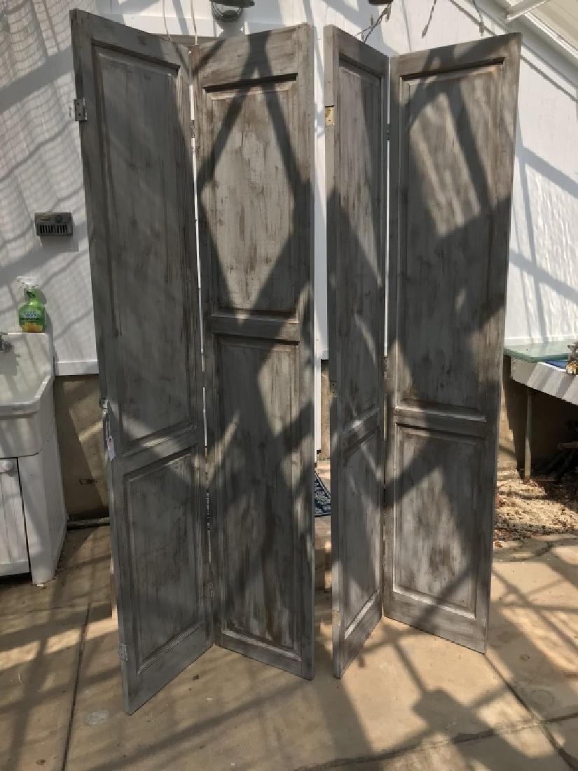 Custom Made Hand Painted Room Divider Screen - 2