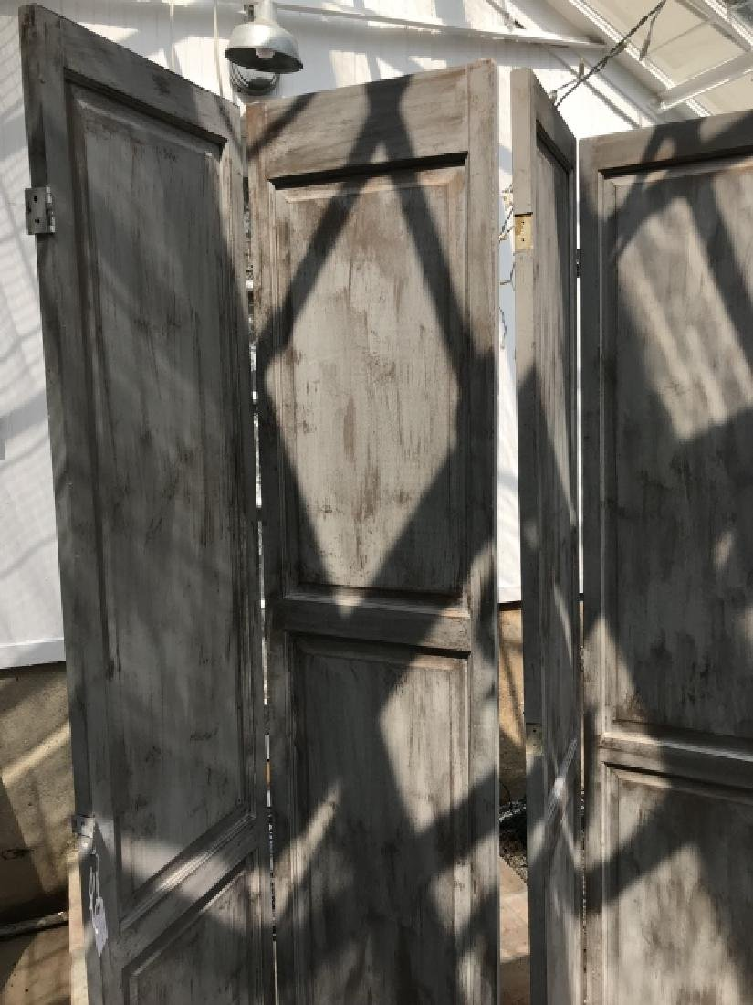 Custom Made Hand Painted Room Divider Screen - 3