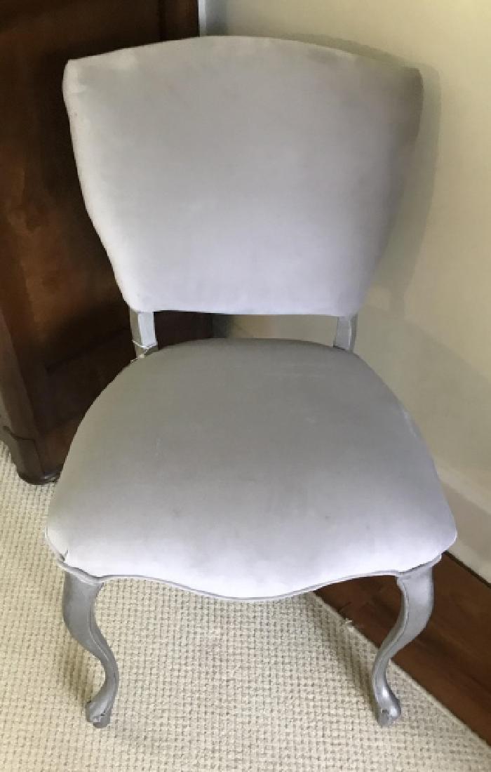 Custom Upholstered Velvet Fabric Side Chair