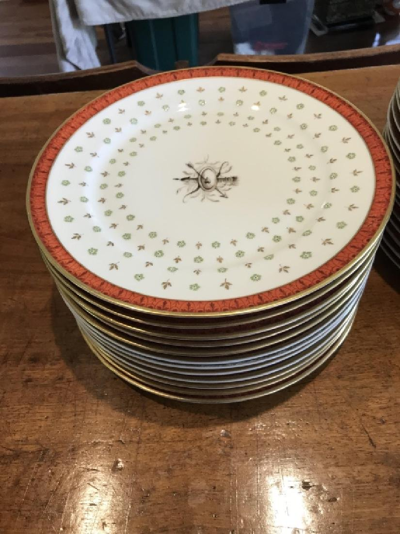 Two Sets of French Hand Painted Porcelain Plates - 2