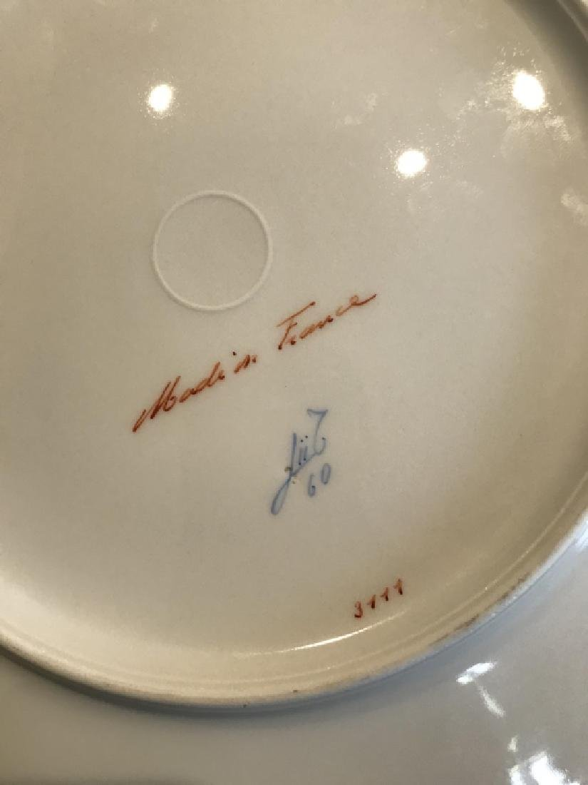 Two Sets of French Hand Painted Porcelain Plates - 4