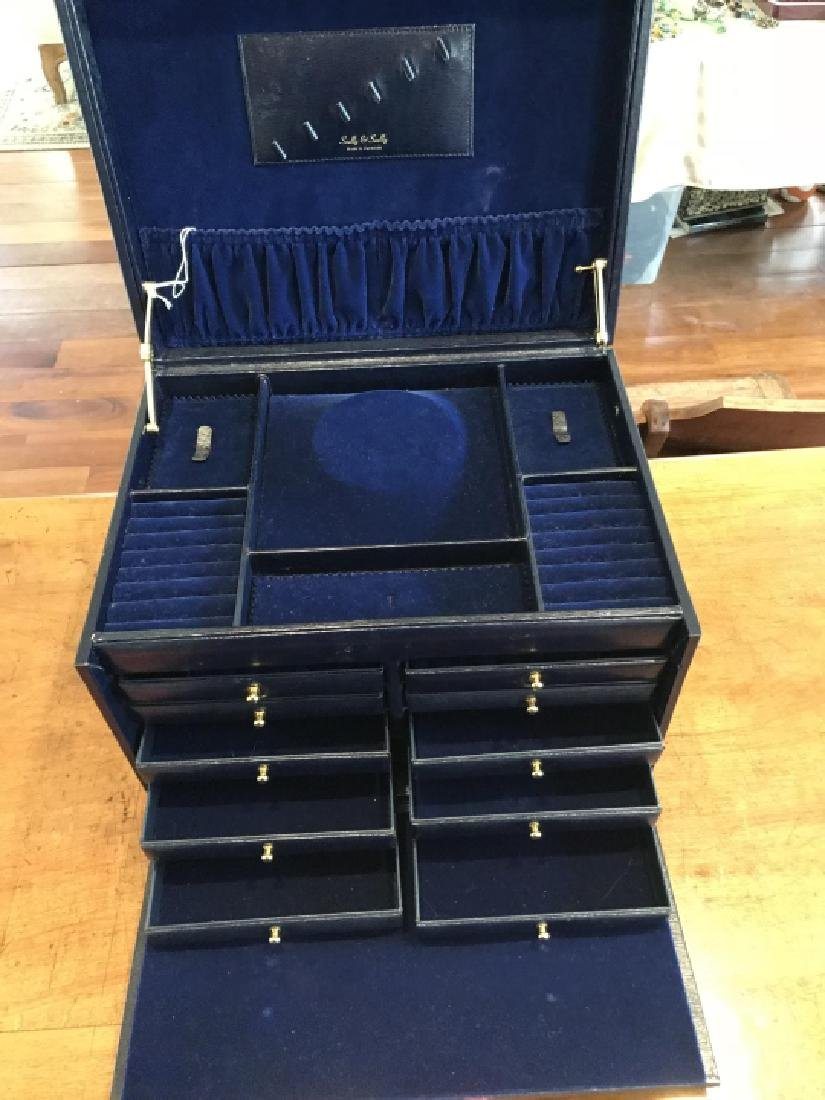 Scully & Scully Multi Compartment Jewelry Chest