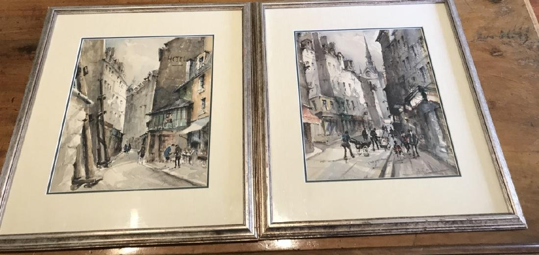 Pair of Signed Original Paintings of Paris, France