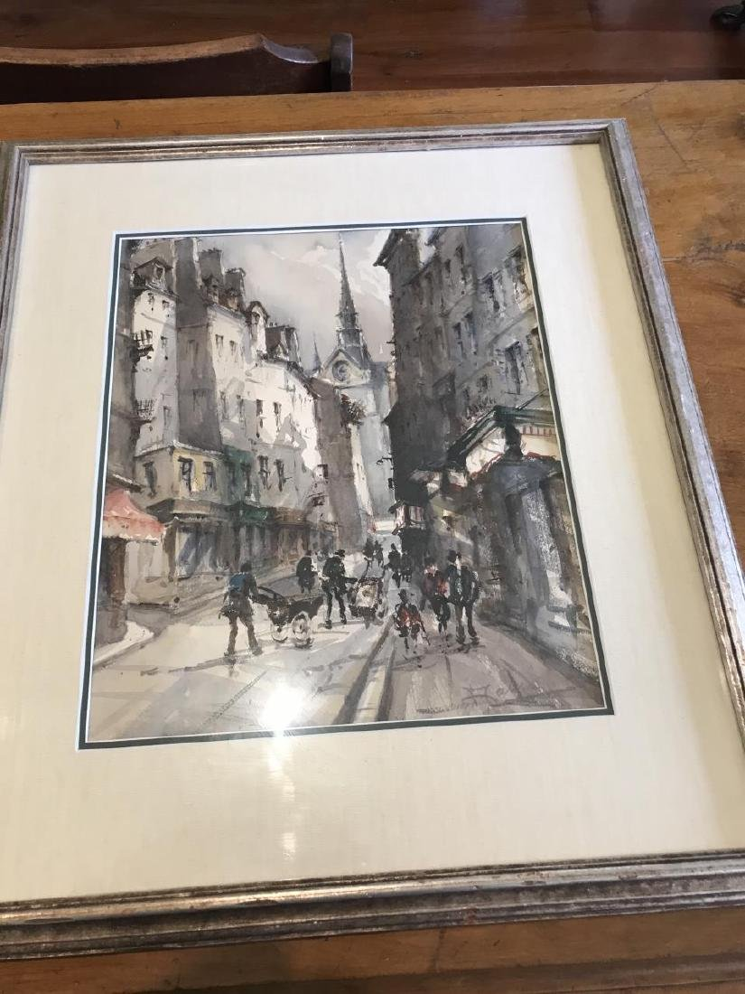 Pair of Signed Original Paintings of Paris, France - 3