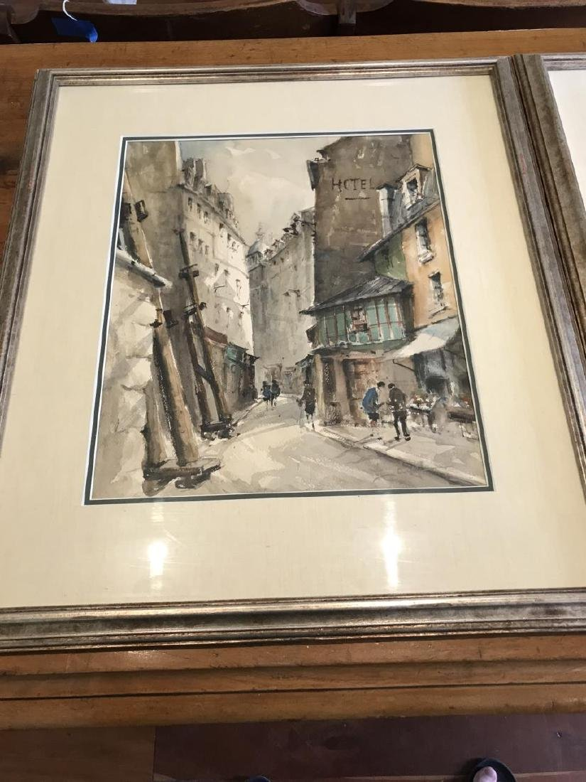 Pair of Signed Original Paintings of Paris, France - 4