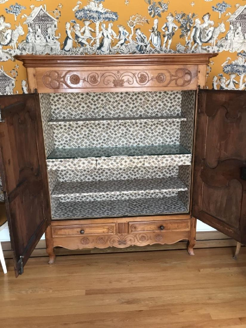 Antique French Provencal Armoire Fitted as Bar - 3