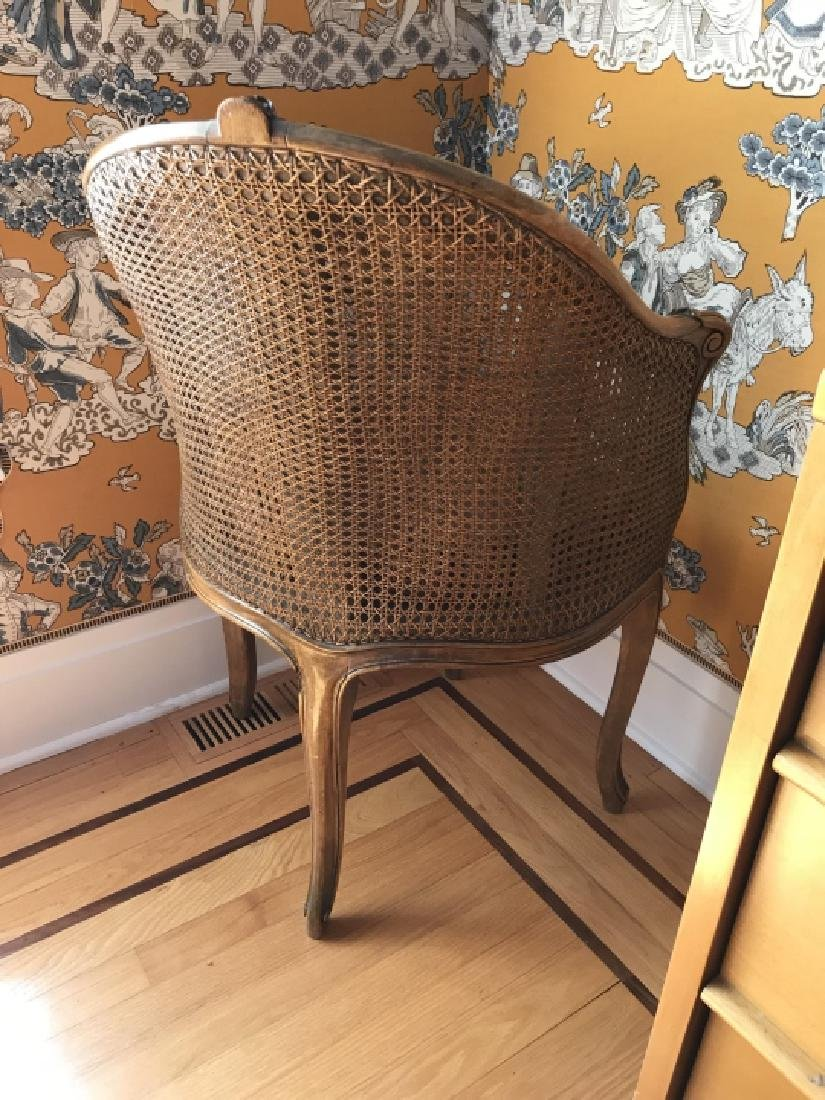 Antique 19th C Carved & Caned French Corner Chair - 2