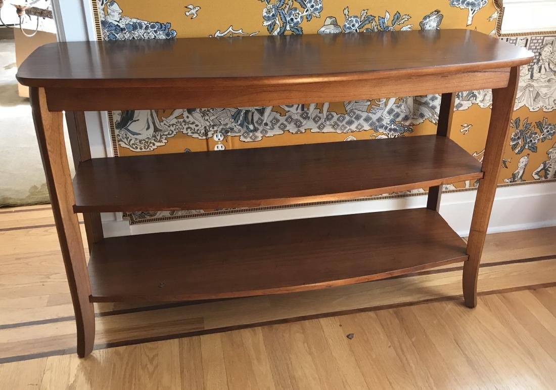 Contemporary Modern Console Table w Shelves