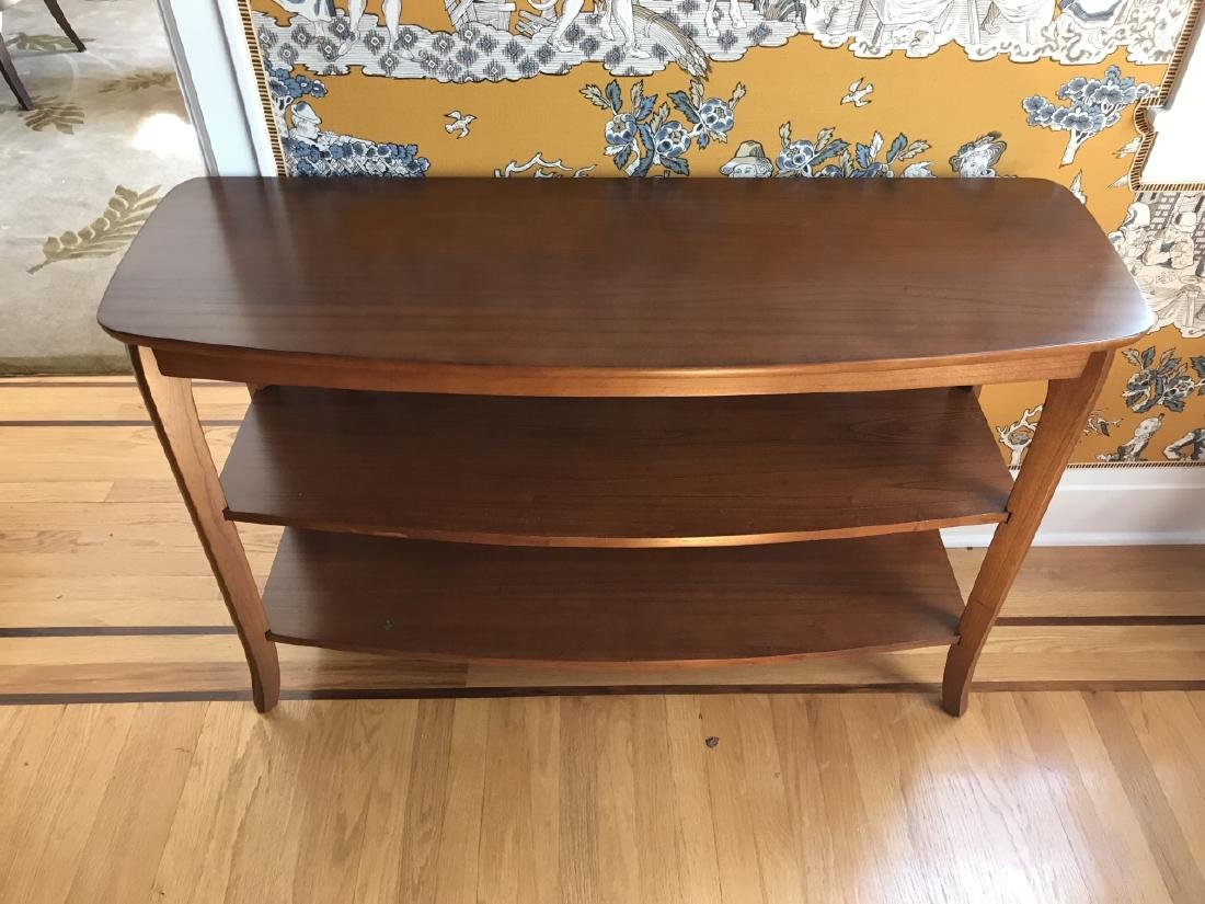 Contemporary Modern Console Table w Shelves - 2