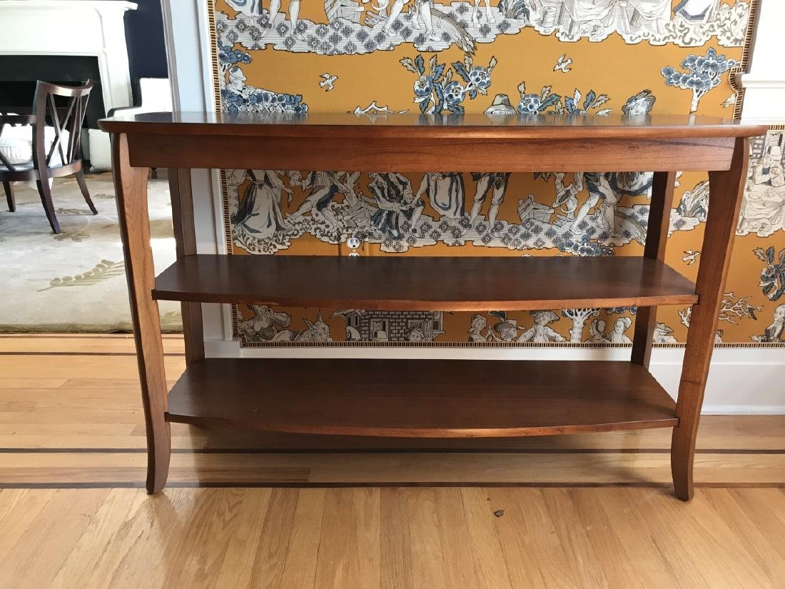 Contemporary Modern Console Table w Shelves - 3