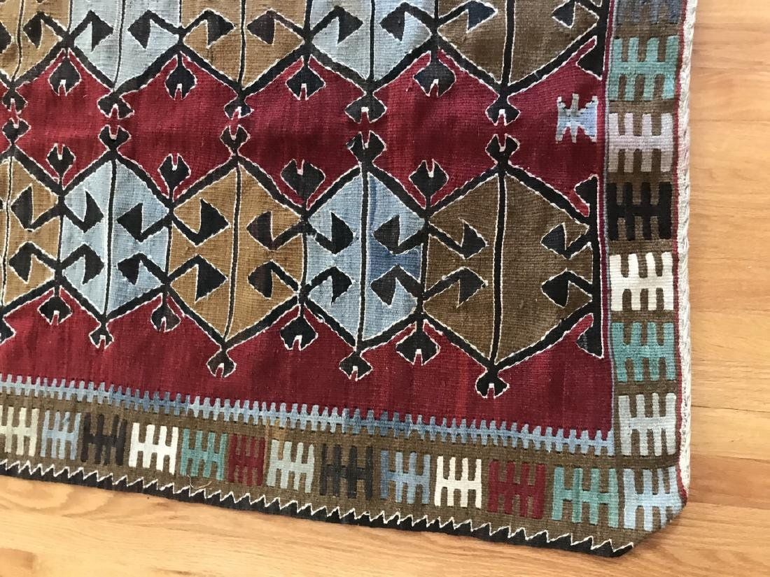Hand Knotted Kilim Style Throw Rug / Carpet - 3