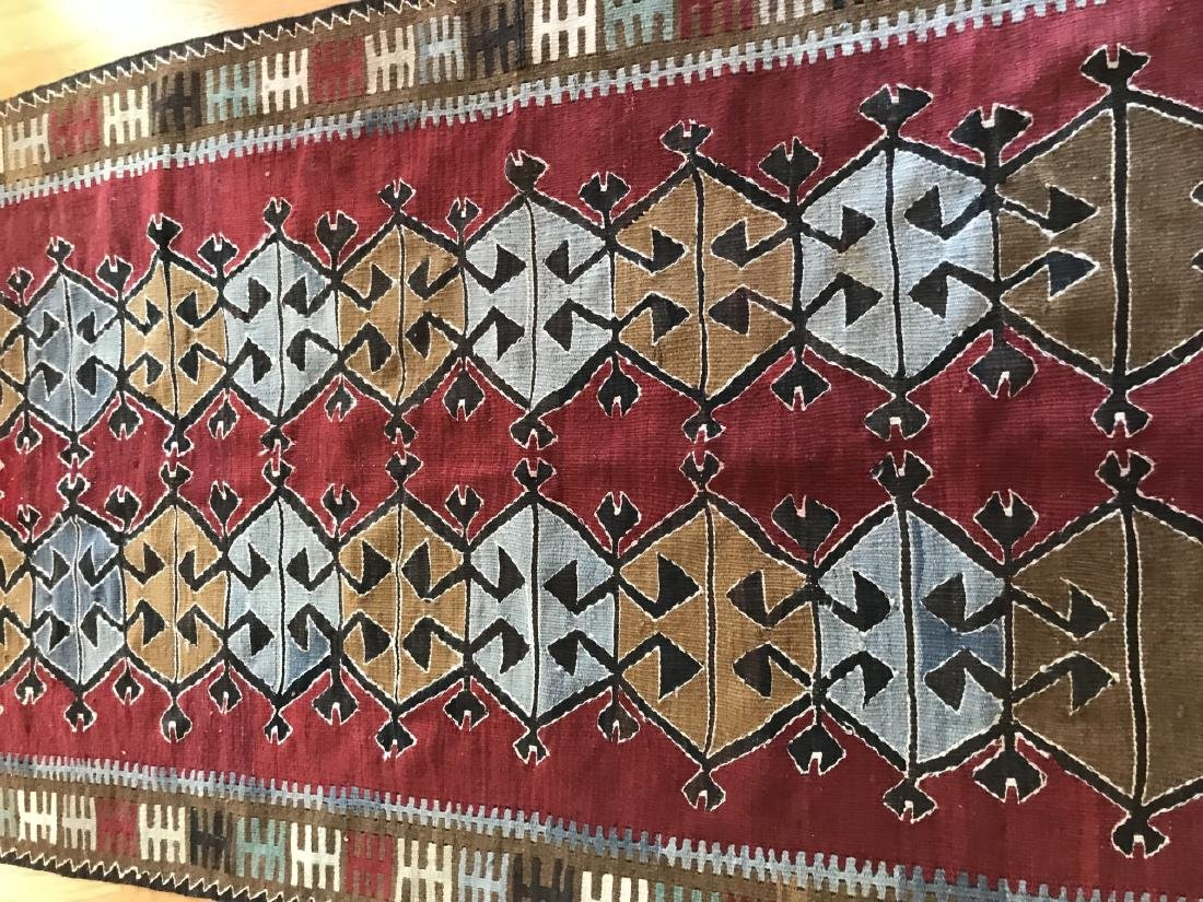 Hand Knotted Kilim Style Throw Rug / Carpet - 4
