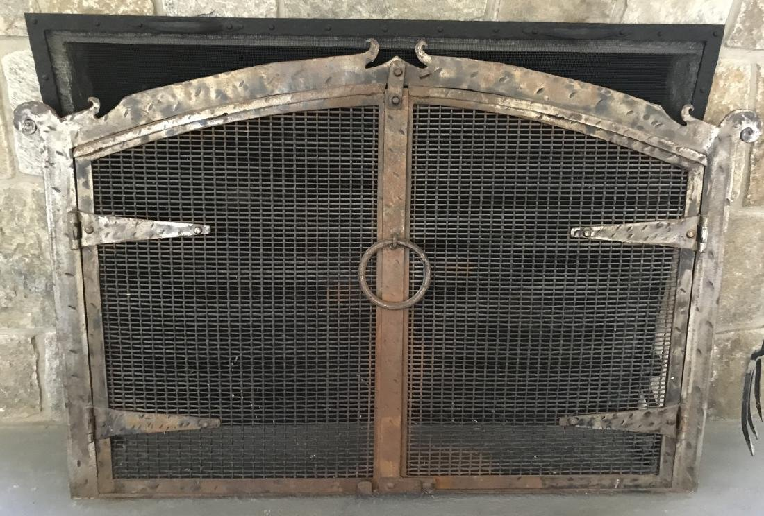 Contemporary Wrought Iron Fireplace Screen