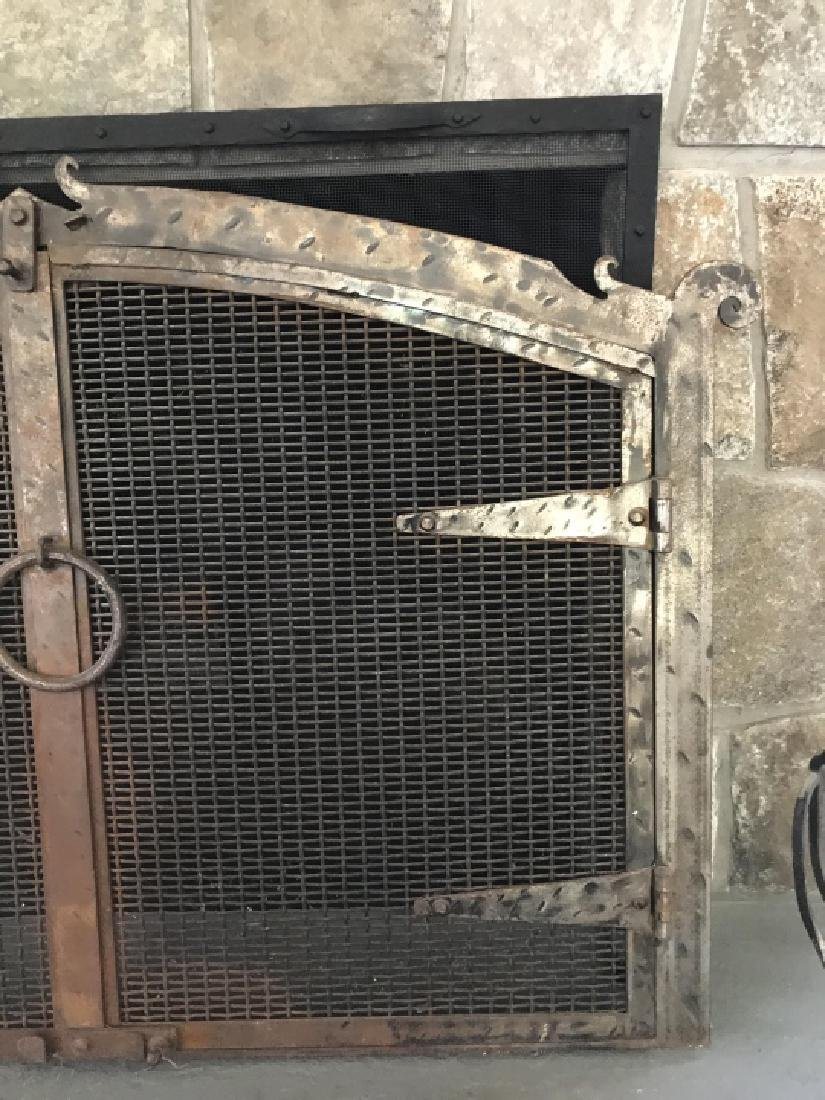 Contemporary Wrought Iron Fireplace Screen - 2