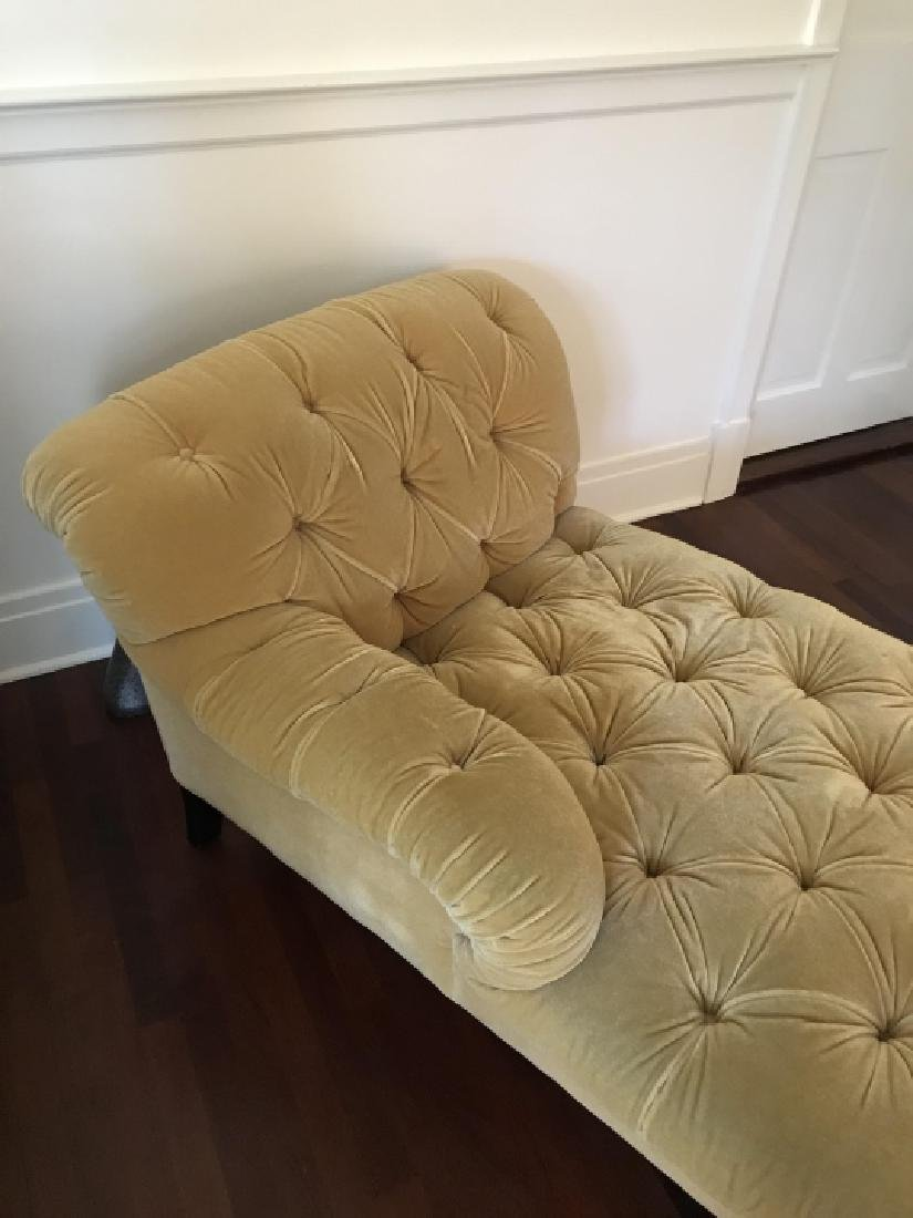 Custom Upholstered Chesterfield Style Chaise - 2