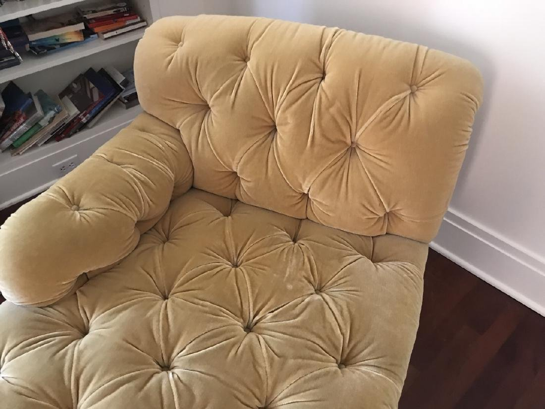 Custom Upholstered Chesterfield Style Chaise - 4